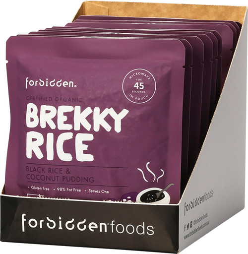 Forbidden Brekky Rice Pudding Black Rice & Coconut 10X125G 1.25kg