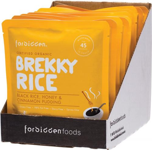 Forbidden Brekky Rice Pudding Black Rice Honey & Cinnamon 10X125G 1.25kg