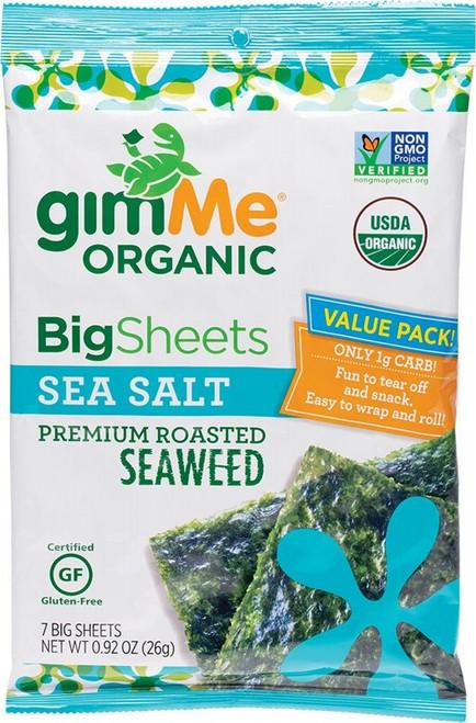 Gimme Roasted Seaweed Big Sheets Sea Salt (7 Sheets) 26g