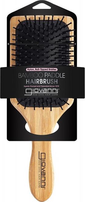 Giovanni Bamboo Hair Brush Paddle Nylon, Ball-Tipped Bristles