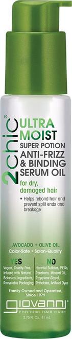 Giovanni Anti-Frizz Serum 2Chic Ultra-Moist (Dry, Damaged Hair) 81ml