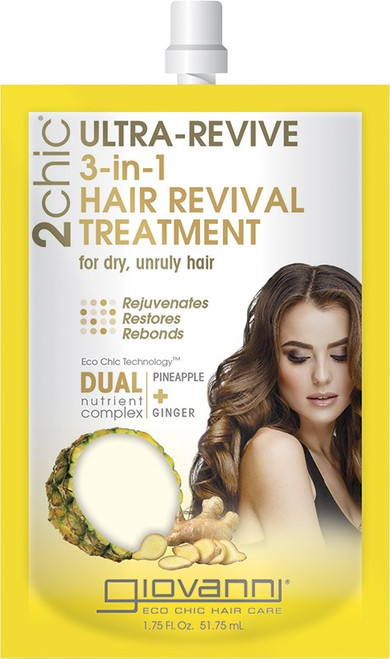 Giovanni 3-In-1 Hair Revival Treatment Ultra-Revive (Dry, Unruly Hair) 51ml