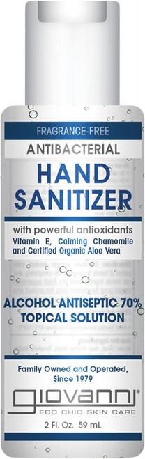 Giovanni Antibacterial Hand Sanitizer Alcohol Antiseptic 70% 59ml