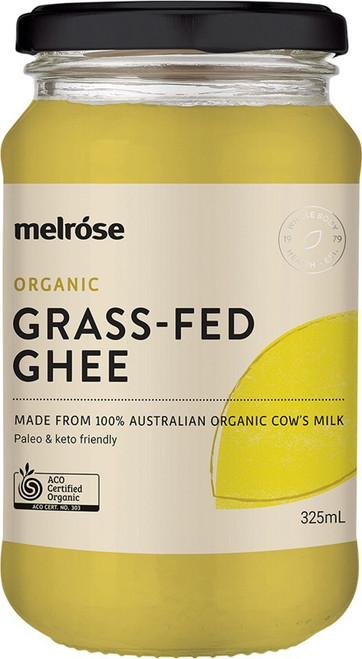 Melrose Grass-Fed Ghee Organic 325ml
