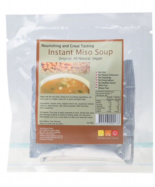 Nutritionist Choice Instant Miso Soup Pack of 4 Sachets 4x20g