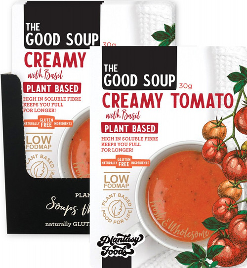 Plantasy Foods The Good Soup Creamy Tomato with Basil 10x30g