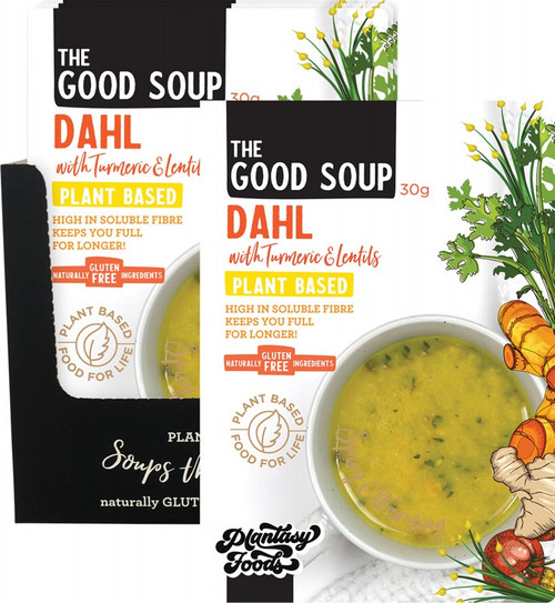 Plantasy Foods The Good Soup Dahl with Turmeric and Lentils 10x30g