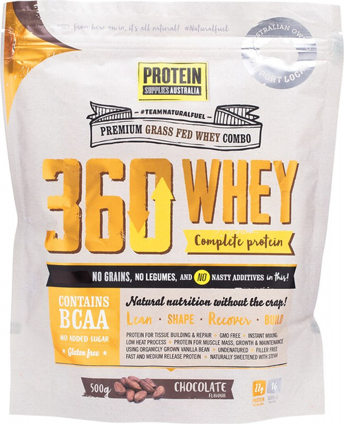 Protein Supplies Australia 360Whey (Wpi+Wpc Combo) Chocolate 500g
