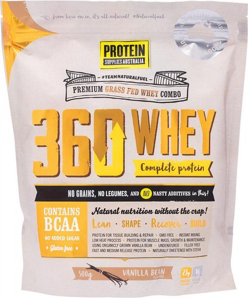 Protein Supplies Australia 360Whey (Wpi+Wpc Combo) Vanilla Bean 500g