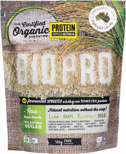 Protein Supplies Australia Biopro (Sprouted Brown Rice) Pure 500g