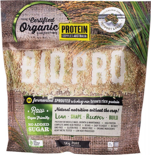 Protein Supplies Australia Biopro (Sprouted Brown Rice) Pure 1kg