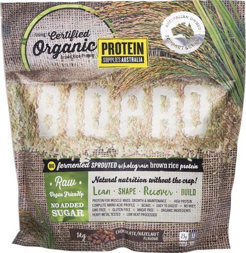 Protein Supplies Australia Biopro (Sprouted Brown Rice) Chocolate & Hazelnut 1kg