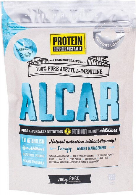 Protein Supplies Australia Alcar (Acetyl L-Carnitine) Pure 200g