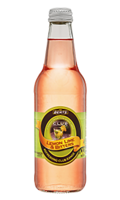 Berts Softdrinks Club Lemon, Lime & Bitters Pet Bottles 600ml x 24