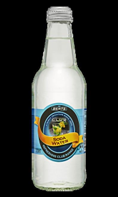 Berts Softdrinks Club Soda Water Glass Bottles 330ml x 24