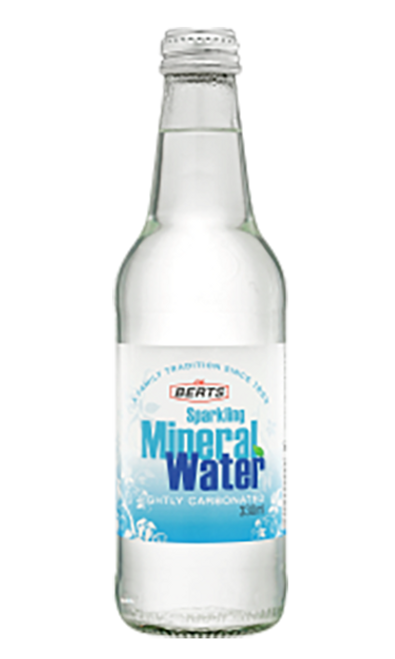 Berts Mineral Water Range Lightly Carbonated Sparkling Mineral Water Glass Bottles 330ml x 24