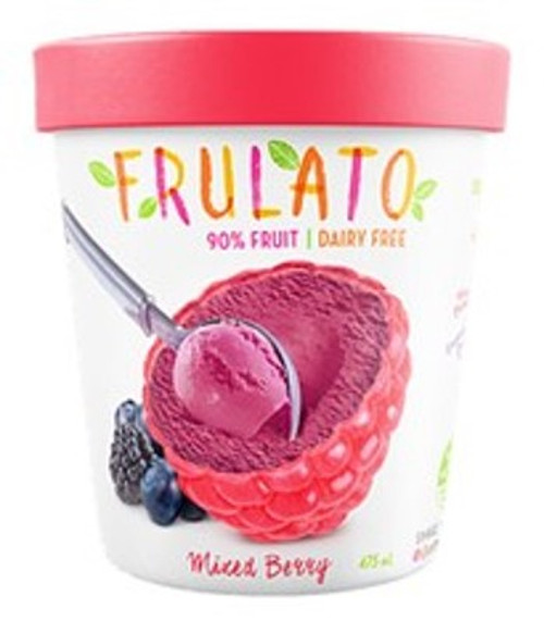 Frulato 90% Fruit Dessert - Mixed Berry Ice Cream 475ml x 6