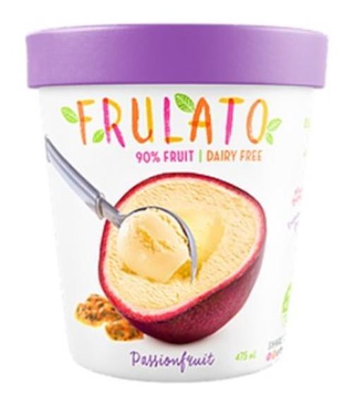 Frulato 90% Fruit Dessert - Passionfruit Ice Cream 475ml x 6
