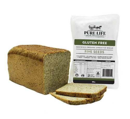 Pure Life Sprouted Bread 5 Seed Gluten Free 900g