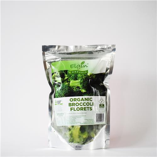 Elgin Organic  Brocolli Florets 500g x 8