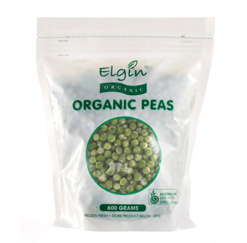Elgin Organic  Frozen Peas 600g x 8