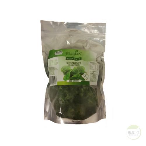 Elgin Organic  Chopped Frozen Spinach  600g x 8