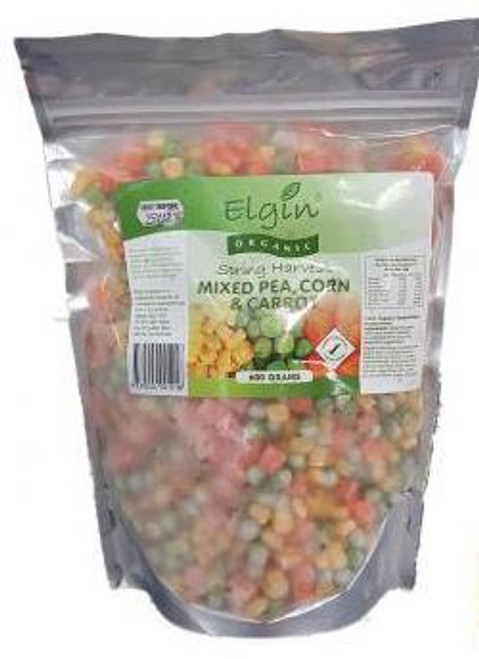 Elgin Organic  Mixed Pea Corn & Carrot  600g x 8