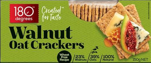 180 Degrees Walnut Oat Crackers 150g x 12