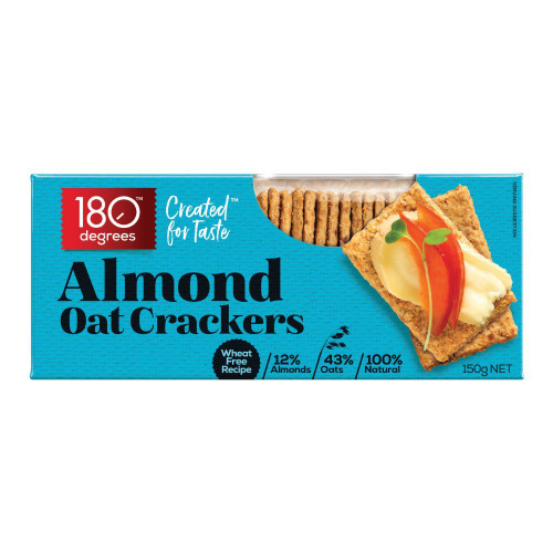 180 Degrees Almond Oat Crackers 150g x 12