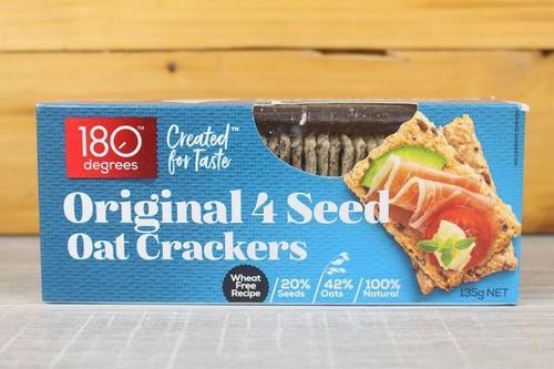 180 Degrees 4 Seed Oat Crackers Original 135g x 12