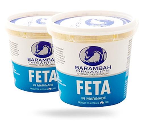 Barambah Organics Cheese Marinated Feta 200g