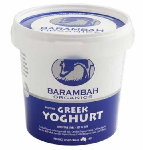 Barambah Organics Sweetened Greek Yoghurt 1Kg