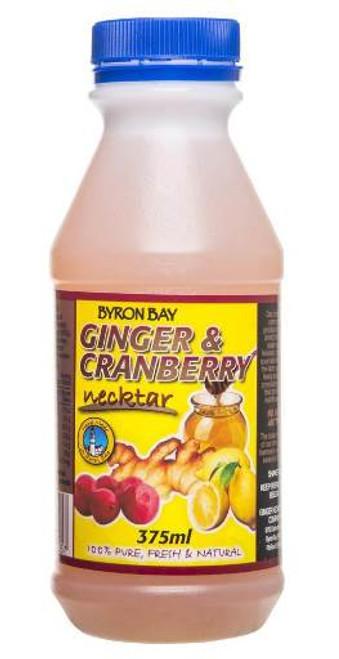 Byron Bay Ginger Necktar Ginger & Cranberry 375ml