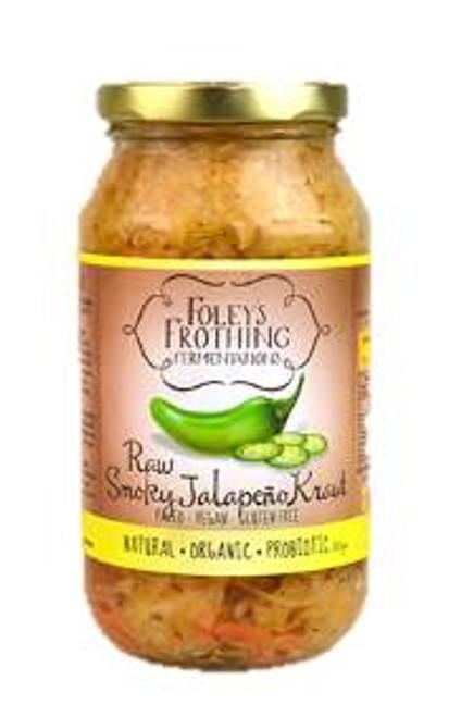 Foley's Frothing Fermentations Raw Jalapeno Kraut 500g