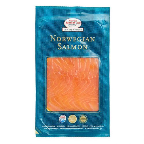Norsk Sjomat Nitrate Free Norweigan Smoked Salmon 100g