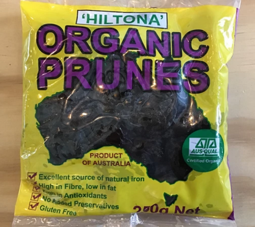 Brooke Kelly 'Hiltona' Organic Prunes 250g x 24