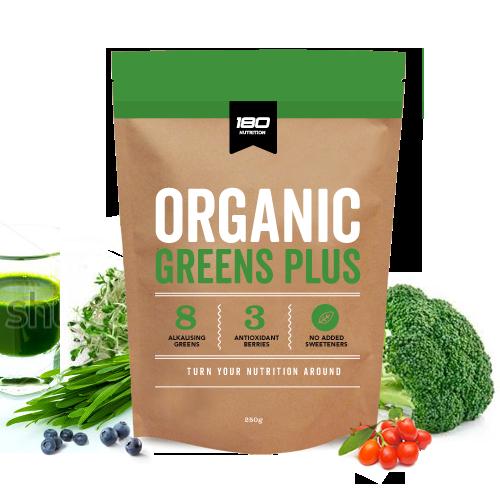 180 Nutrition Organic Greens Plus 250g (50 Serves)