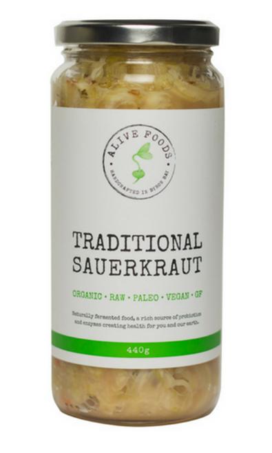 Alive Foods Traditional Sauerkraut 440g x 6