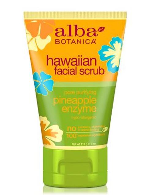 Alba Botanica Hawaiian Facial Scrub Pineapple Enzyme 113g