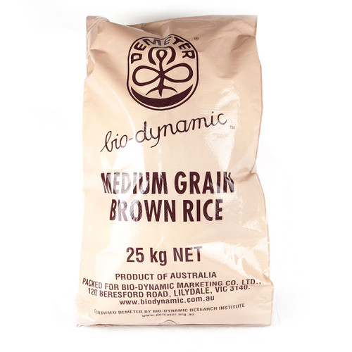 Biodynamic Brown Rice 25kg Bag