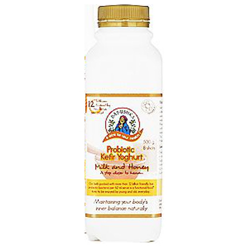 Babushka Kefir Probiotic Drinking Yoghurt Milk & Honey 500g
