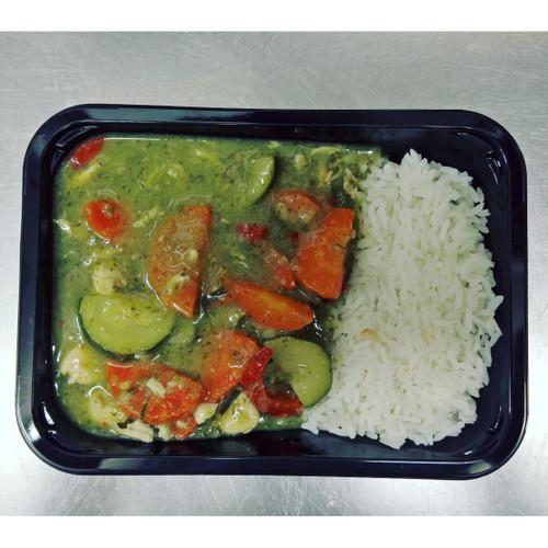 Foddies Thai Green Chicken Curry & Rice 350g x 6