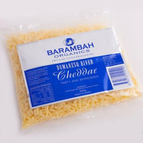 Barambah Organics Cheese Cheddar Shredded 250g