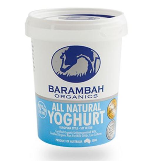 Barambah Organics Yoghurt All Natural 500g (Pre-Order Item)