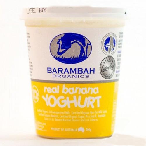 Barambah Organics Yoghurt Banana 200g