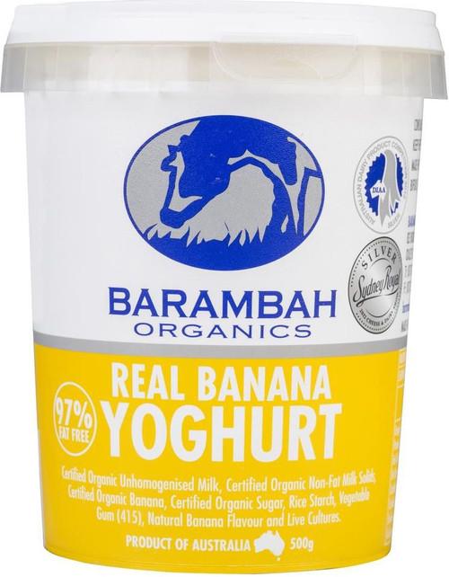 Barambah Organics Yoghurt Banana 500g