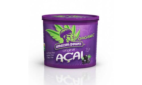 Amazon Power Organic Acai Original Frozen 1Kg Tub x 6