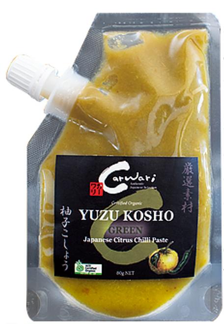 Carwari Yuzu Kosho (Green), 80g x 3