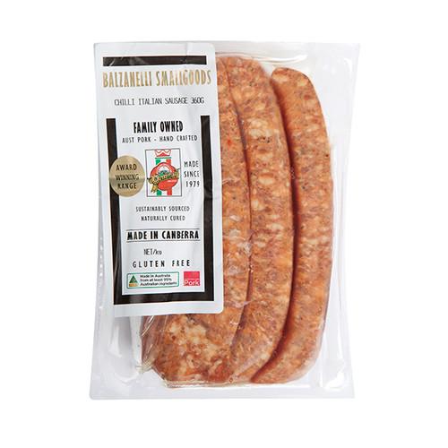 Balzanelli Sausage Chilli Italian 360g x 10