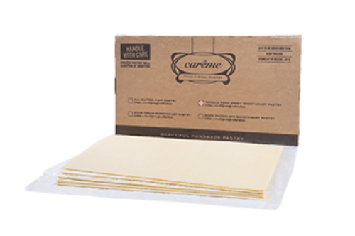 Careme Pastry Vanilla SC Sheets 2.3kg x 2 (Food Service)